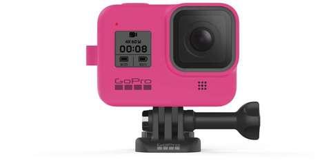 GoPro Sleeve + Lanyard HERO8 ELECTRIC PINK - Силиконовый чехол с ремешком для камеры | AJSST-007 |