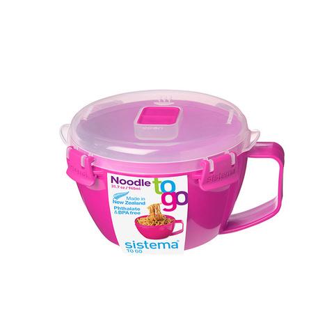 """Кружка для приготовления лапши в СВЧ Sistema """"Microwave"""" 940 мл, цвет Розовый"""