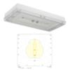 Промышленные потолочные светильники IP65 аварийного освещения высоких помещений SOLID Line MIDBAY Teknoware