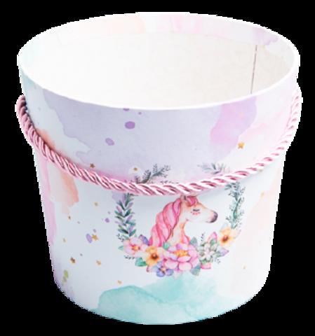 Коробка-конус для цветов Единорог