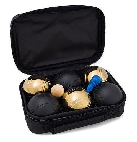 Петанк (боча) золотой +черный, 6 шаров