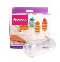 8517 FISSMAN Набор из 3 контейнеров для пуш-кейков 12x4,5 см