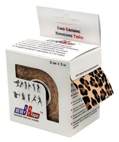 BBtape кинезио тейп 5см х 5м С рисунком леопард