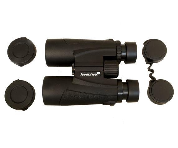 Бинокль Levenhuk Karma 8x42: защитные крышки окуляров и объективов