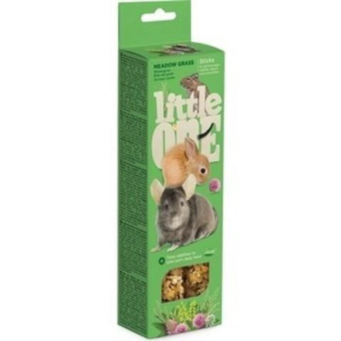 Little One палочки для морских свинок, кроликов и шиншилл с луговыми травами 2шт*55г