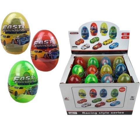 Машинка в пластиковом яйце DIE CAST METAL 1кор*12бл*24шт