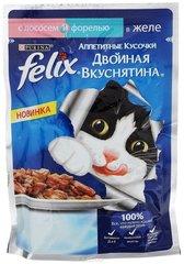 Корм для кошек Felix Двойная Вкуснятина лосось форель 85г