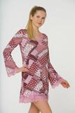 Платье с рисунком из лоскутов Rosapois