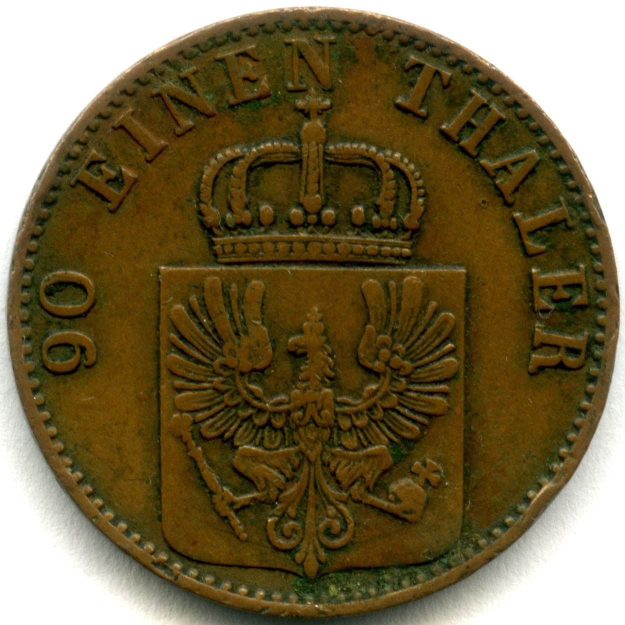 4 пфеннига (1/90 талера) 1865 А Германия-Пруссия VF-