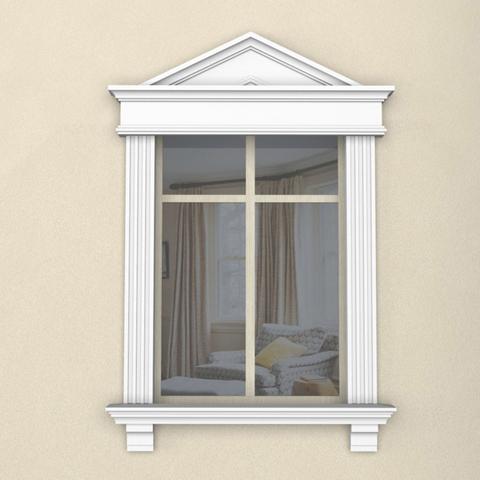 Окно в сборе с сандриком и консолями