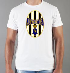 Футболка с принтом FC Juventus (ФК Ювентус) белая 005