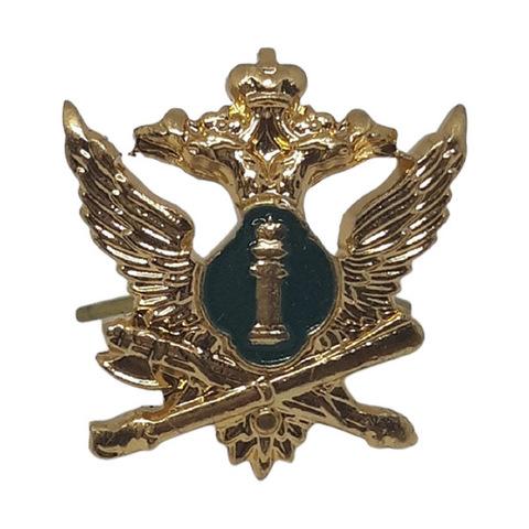 Эмблема петличная ФССП, металл. золотой с эмалью