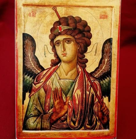 Икона Архангел Гавриил на дереве на левкасе мастерская Иконный Дом