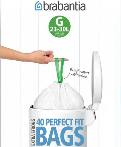Пакет пластиковый 23/30л 40шт, артикул 375668, производитель - Brabantia