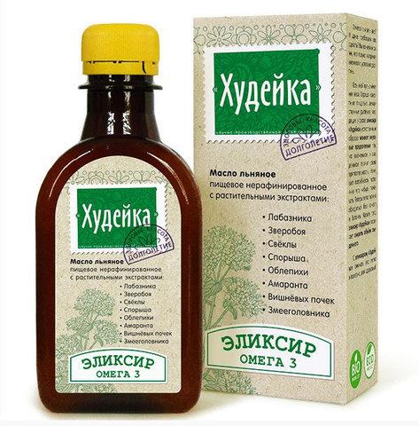 Компас здоровья масло льняное с растительными экстрактами «Худейка» 0,2л