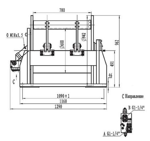 Стандартная лебедка IYJ35.55.5-200-200-34-ZPG