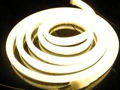 Неон 14мм 360  теплый белый