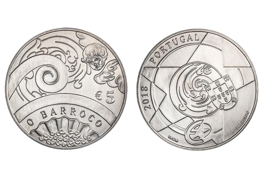 5 евро Португалия - Эпоха Барокко. 2018 год
