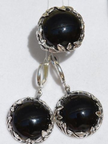 Дарина  (кольцо + серьги из серебра)