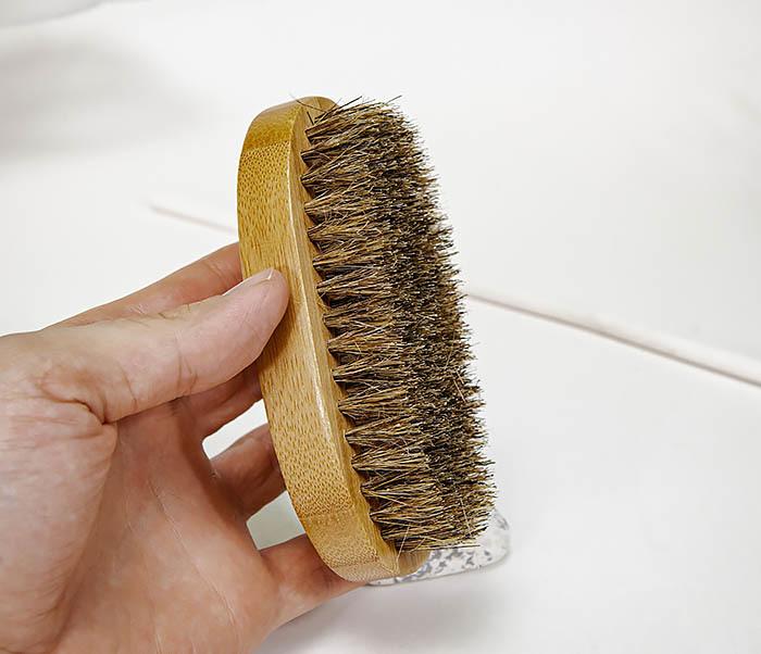 CARE149 Щетка для бороды с рукояткой из бамбука фото 06