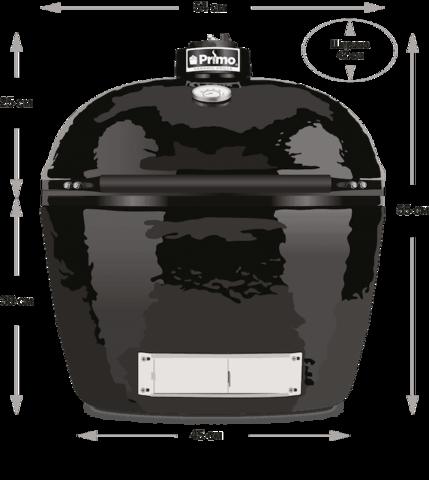 Керамический гриль Primo Oval Junior 200