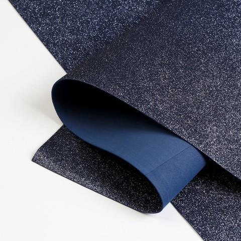 Глиттерный фоамиран 20х30х2 мм графитовый