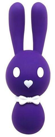 Фиолетовый вибростимулятор-зайчик Dorcel - 16 см.