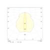 Диаграмма светораспределения для промышленного потолочного светильника аварийного освещения высоких помещений SOLID Line MIDBAY IP65