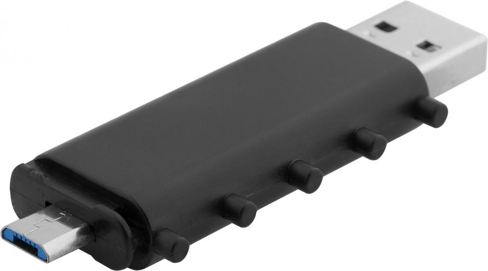LokenToken dual USB flash drive, black