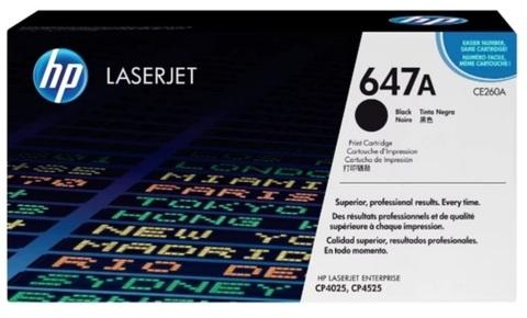 Оригинальный картридж HP CE260A 647A черный