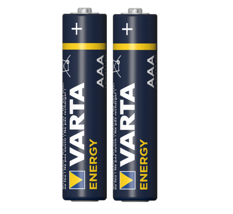 Батарейка щелочная VARTA LR03 (AAA) Energy 1.5В бл/2