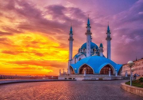Алмазная Мозаика 40x50 Мечеть на закате (арт. GA78113)
