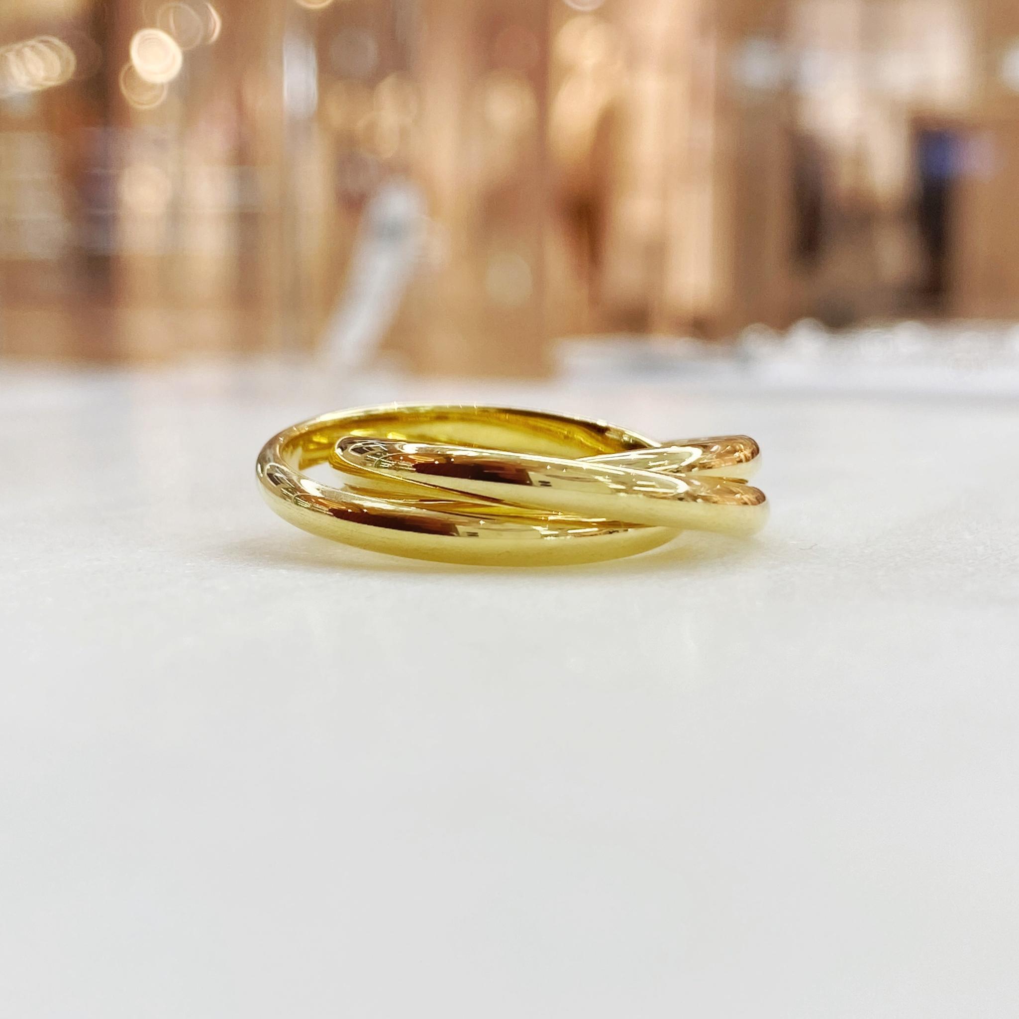 Кольцо тройное (золотистый)