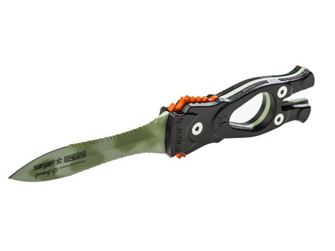 Нож SARGAN Сталкер-стропорез Z1 - зеленый камуфляж