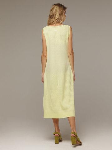 Женское желтое платье без рукава из хлопка - фото 3