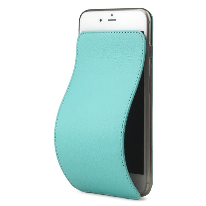 Чехол для iPhone 8 Plus из натуральной кожи теленка, цвета тиффани