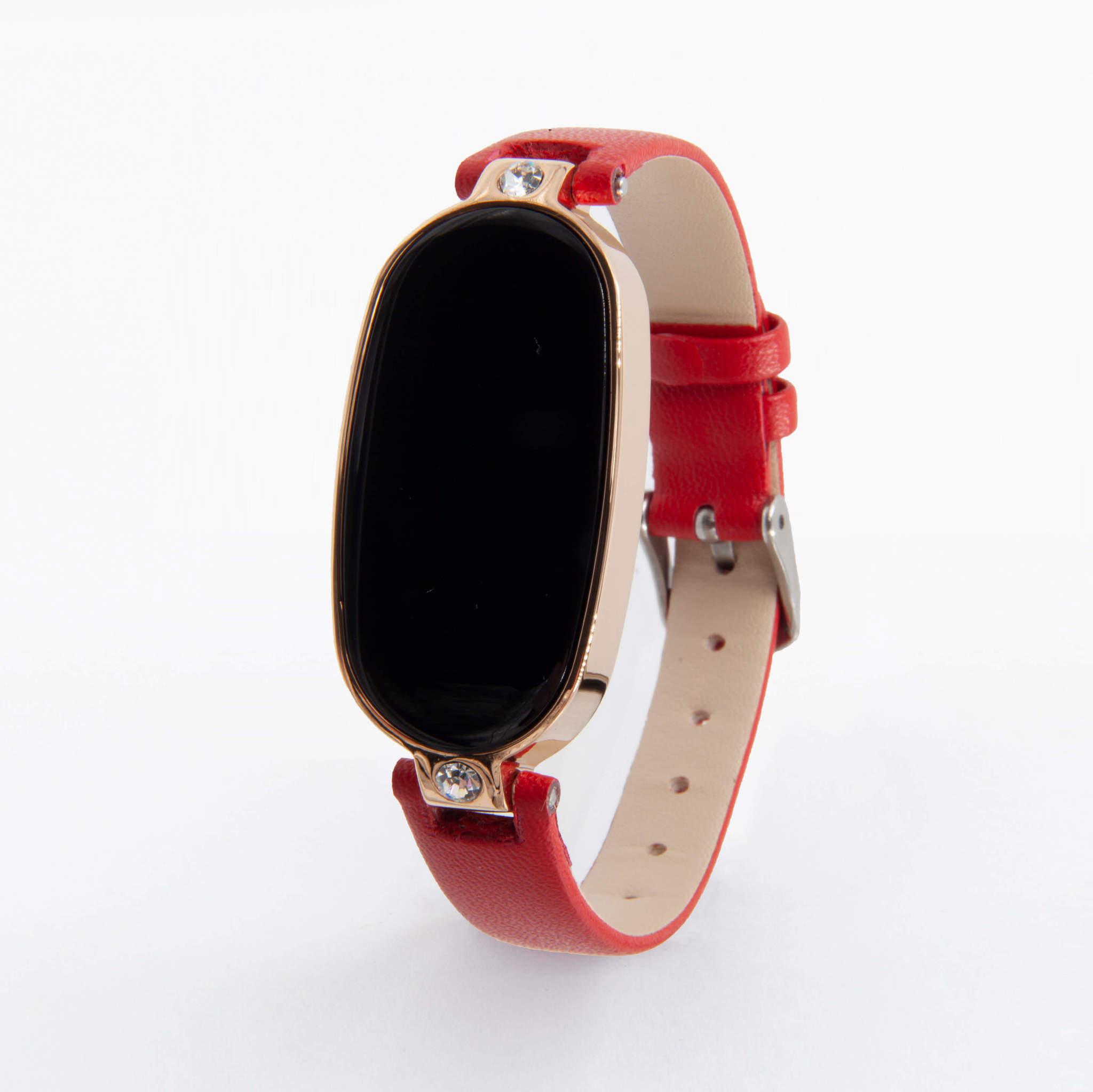 Женские часы с измерением давления, снятием ЭКГ и круглосуточным мониторингом пульса Health Band WM17, (красный)