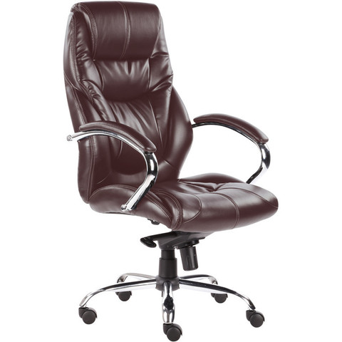 Кресло для руководителя Easy Chair 535 MPU коричневое (искусственная кожа/металл)