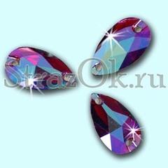 Купите стразы пришивные Drope Amethyst AB, Капля фиолетовые АБ для украшения одежды