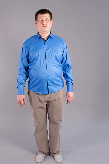 Лекала мужской рубашки декоративного материала