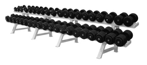 Обрезиненный гантельный ряд из 20 пар – от 26 до 81кг с шагом 2.5 кг