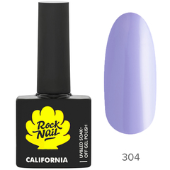 Гель-лак RockNail California 304 Ultra Violet, ...