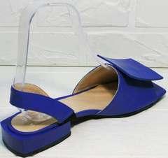 Вечерние босоножкии на маленьком квадратном каблуке Amy Michelle 2634 Ultra Blue.