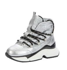 Ботинки зимние, серебро (33-38)