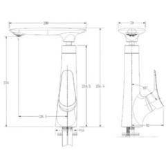 Смеситель KAISER Modern 99233 для кухни схема