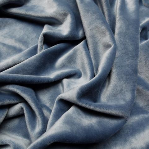 Бархат холодный сине-серый оптом. Ш - 300 см. Арт. YB777-14