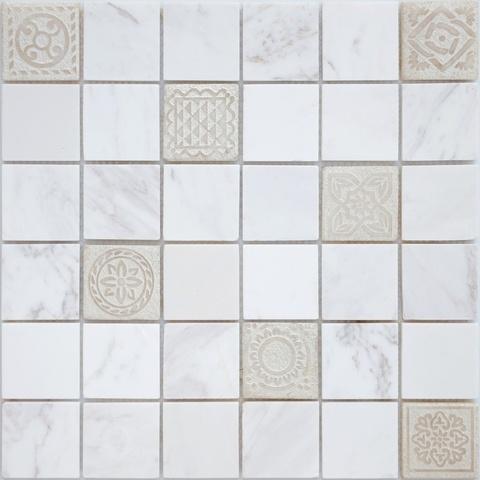 Мозаика Art Dolomiti bianco MAT 300х300