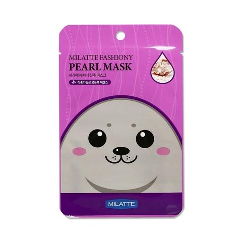 MILATTE - питательная тканевая маска (с экстрактом жемчуга)