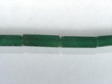 Бусина из авантюрина зеленого, фигурная, 4x13 мм (цилиндр, граненая)