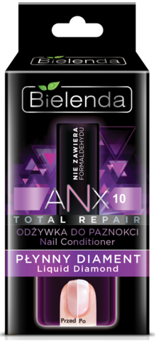 BIELENDA ANX Total Repair Кондиционер для ногтей Жидкий бриллиант 11мл